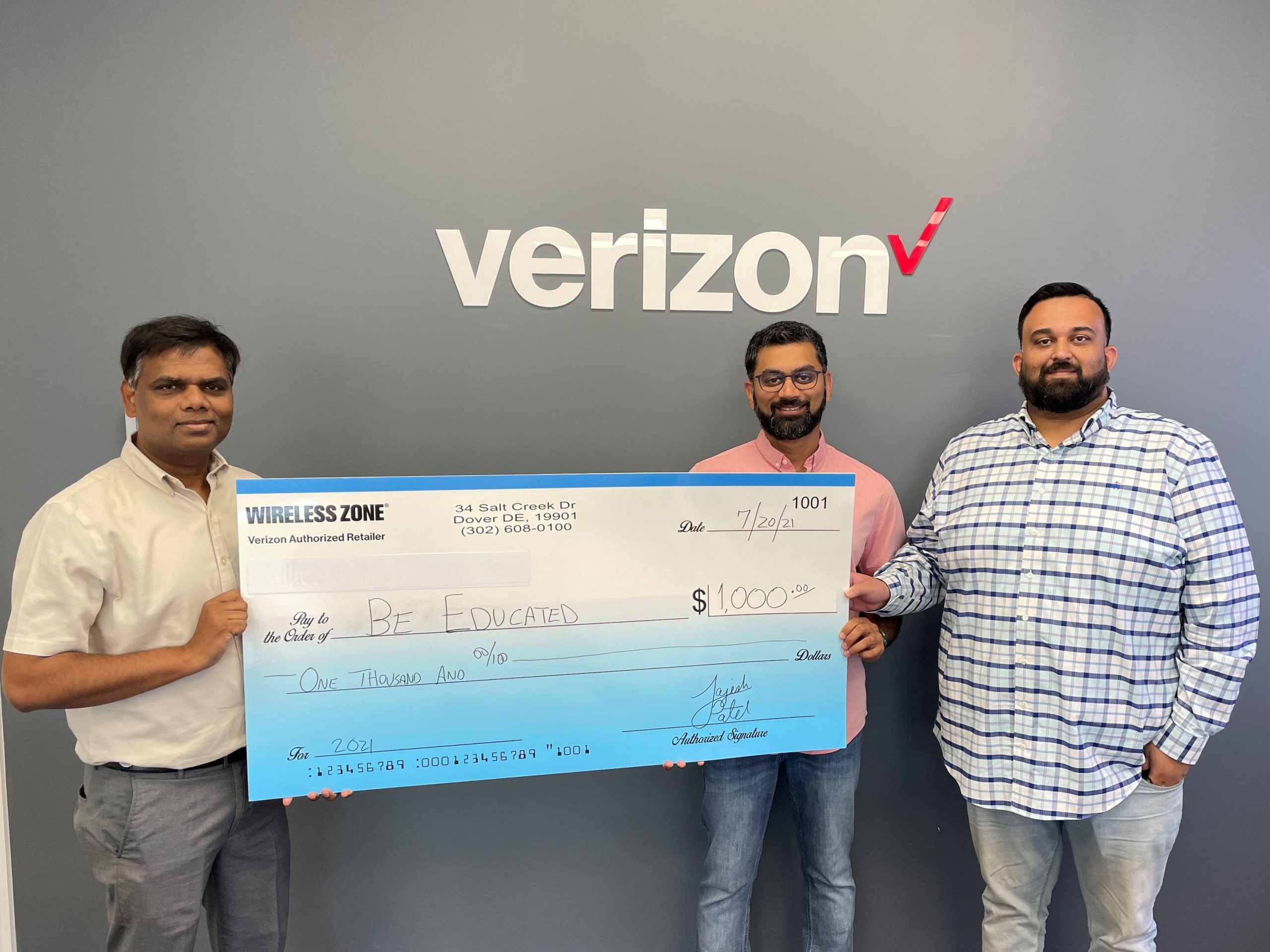 Wireless Zone Foundation for Giving awarded $1000 grant