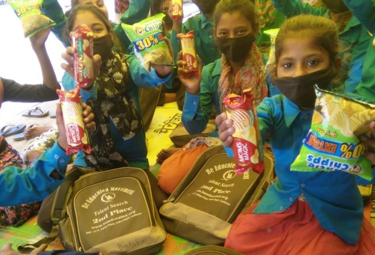 Over 12K Spent on Mask Drive and Slum Children Education Supplies
