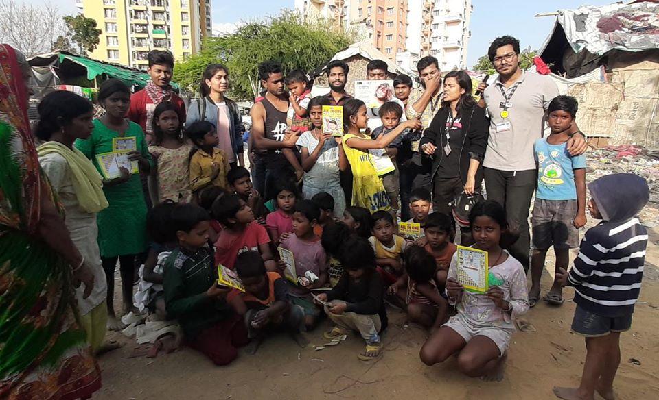 Motivating children of Slum