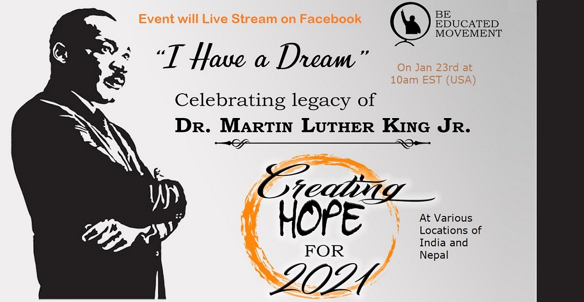 Be Educated to celebrate Legacy of Dr. Martin Luther King Jr.